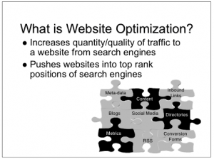 What is website optimization photo