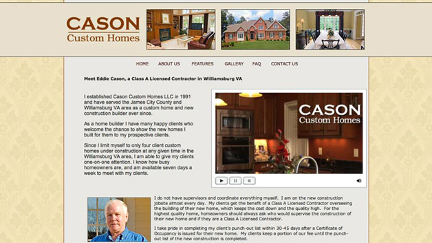 Cason-Custom-Homes-website-design