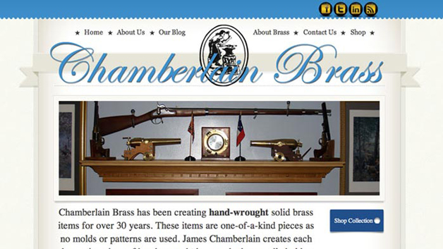 Chamberlain-Brass-website-design