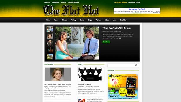 Flat-Hat-News-website-design-williamsburg-va