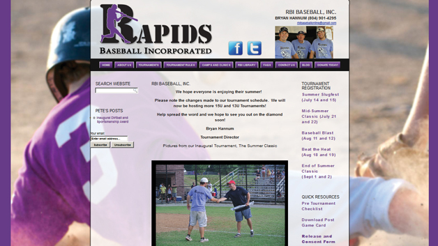Rapids-Baseball-Incorporated-Update-website-design