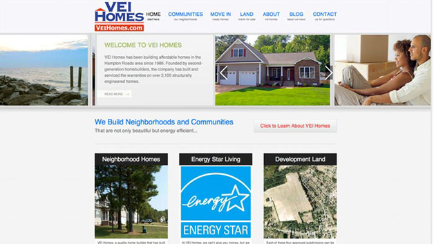 VEI-Homes-website-design