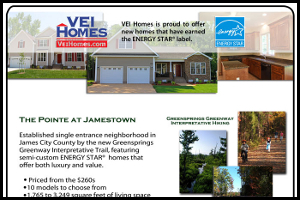 VEI Homes Newport News VA Graphic Design Ad
