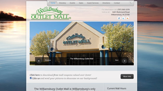 Williamsburg-Outlet-Mall-website-design-SEO