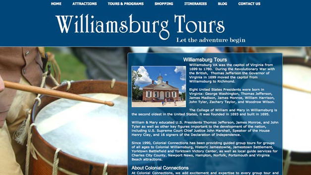 WilliamsburgTours-website-seo-design