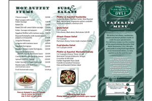Florimonte Williamsburg VA Graphic Design Catering Menu
