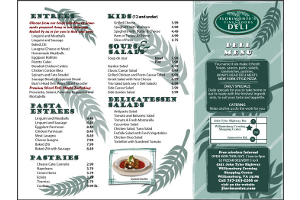 Florimonte Deli Williamsburg VA Graphic Design Menu reverse side