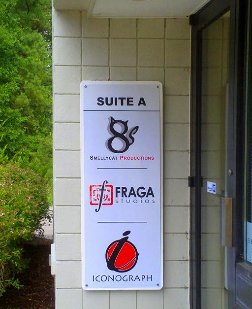 Smellycat, Fraga studios, Iconograph studios, Door banner