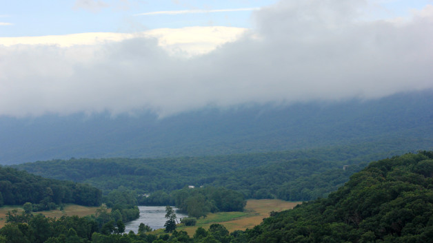 The view from Cullers Overlook after the rain 1