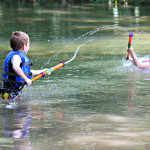 Kids enjoying the Shenandoah River on a warm day. Shenandoah River State Park is very family friendly!