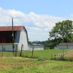 Sky Meadows features a working farm, complete with a barn, fields, and beehives.