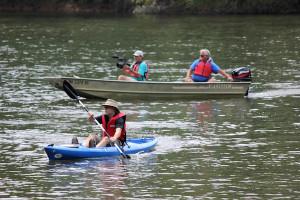 Kayaker on James