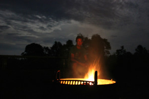 James River campfire
